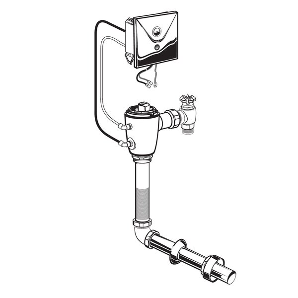 Concealed 1.6 GPF M-AC Flush Valve by American Standard