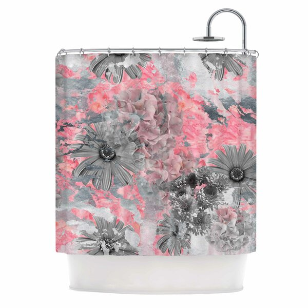 Floral Blush Shower Curtain by East Urban Home