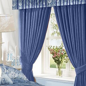 Damask Blackout Rod Pocket Curtain Panels (Set of 2)