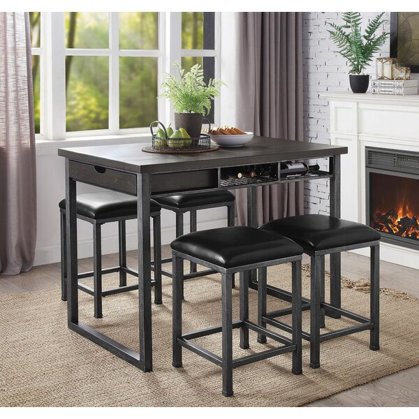 Parham 5 Piece Counter Height Dining Set by Williston Forge