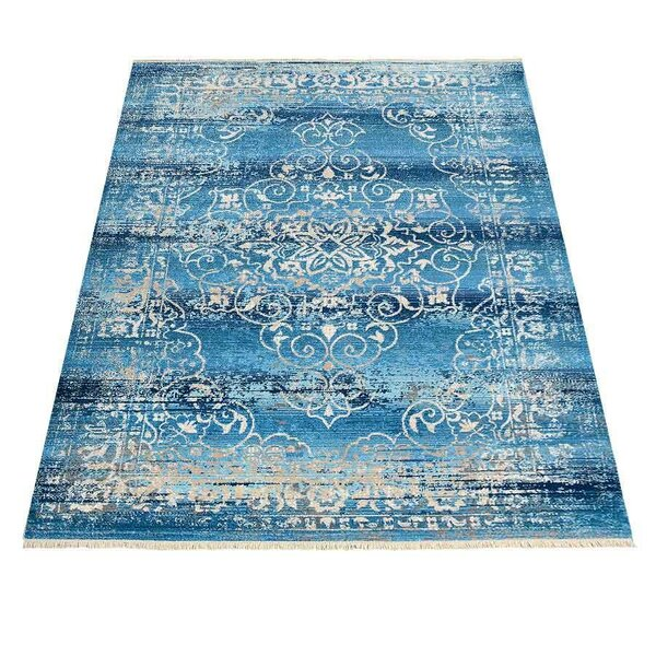 Mcmullan Oriental Blue Area Rug by Bungalow Rose