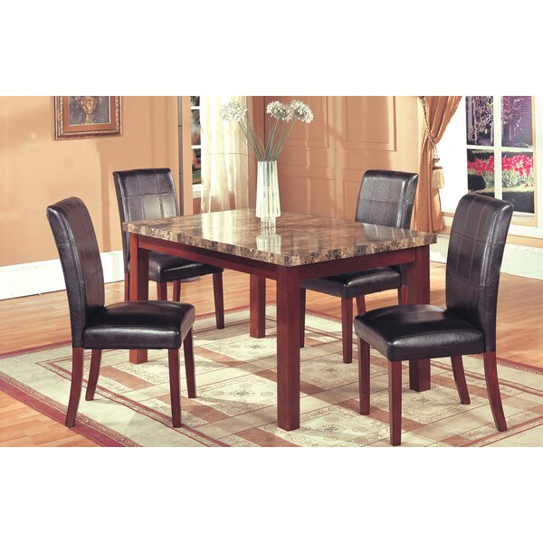 Aldama 5 Piece Dining Set By Loon Peak Coupon