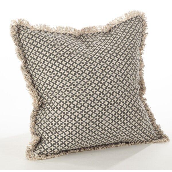 Corinth Cotton Throw Pillow by Saro
