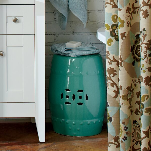 Glazed Ceramic Garden Stool by Birch Lane™