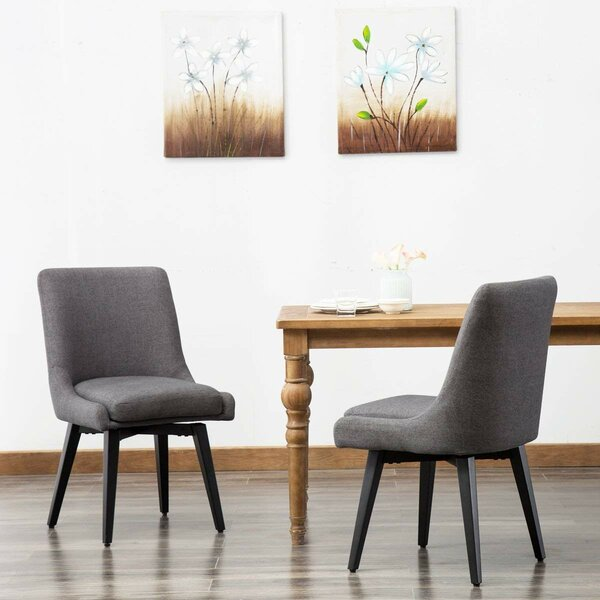 Leila Upholstered Dining Chair (Set of 2) by Wrought Studio