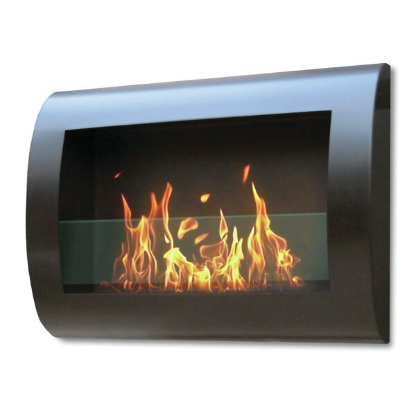 Crafton Wall Mounted Bio-Ethanol Fireplace By Orren Ellis