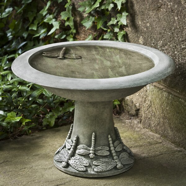Dragonfly Small Birdbath by Campania International