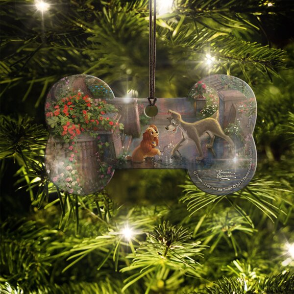 Disney Lady and the Tramp Hanging Bone Shaped Ornament by Trend Setters