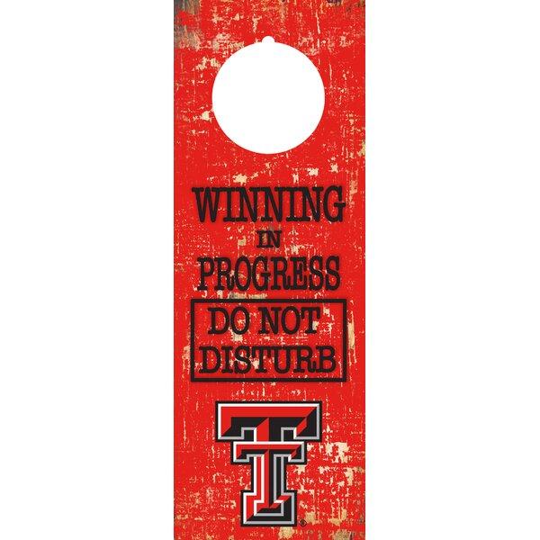 NCAA Team Door Hanger Wall Decor by Fan Creations