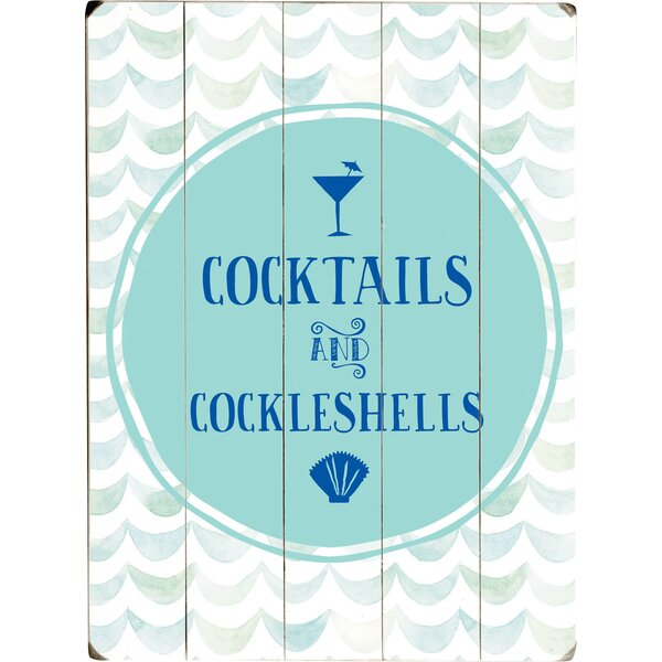 Cocktails and Cockleshells Textual Art Multi-Piece Image on Wood by Artehouse LLC