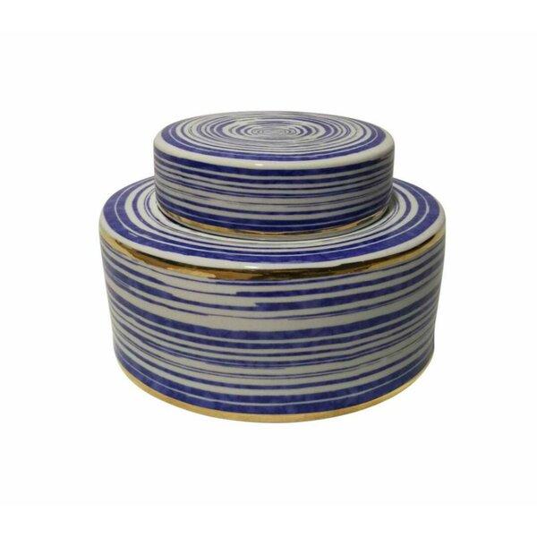 Fascinating Ceramic Covered Storage Jar by Longshore Tides
