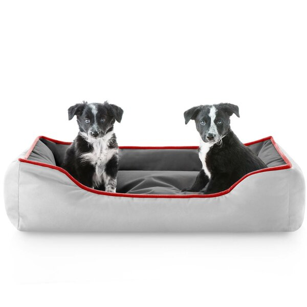 Dante Reversible Waterproof Bolster Dog Bed by Archie & Oscar