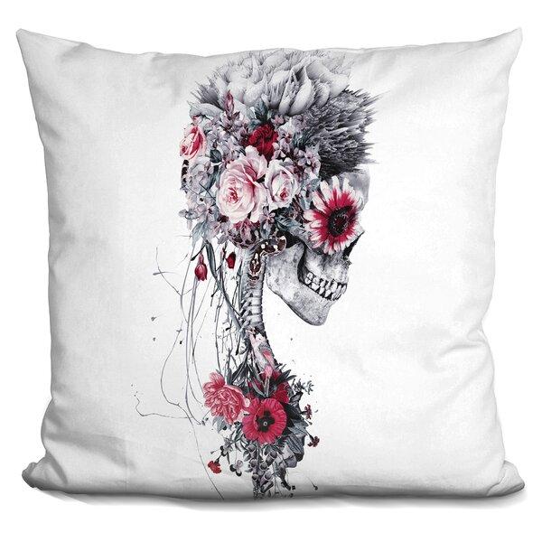 Skeleton Bride Throw Pillow by East Urban Home