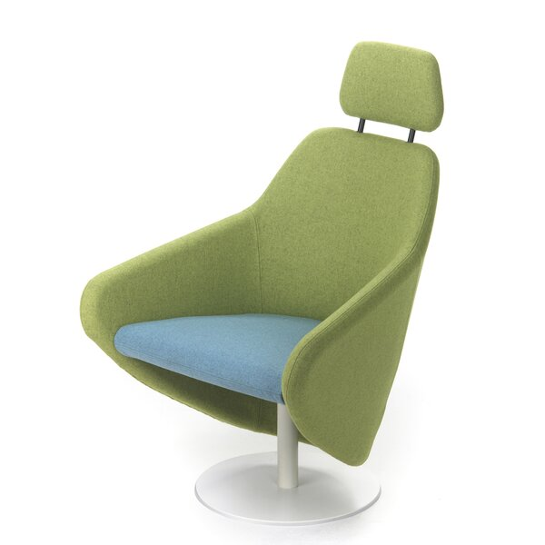 Taxido Swivel Lounge Chair with Headrest by Segis U.S.A