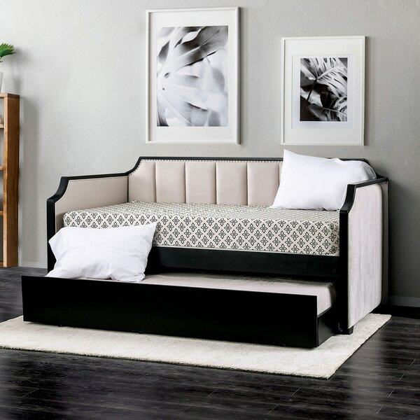 Hajek Twin XL Daybed with Trundle by Everly Quinn Everly Quinn