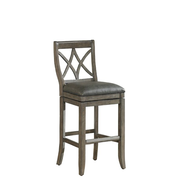 Alsace 34 Swivel Bar Stool by One Allium Way