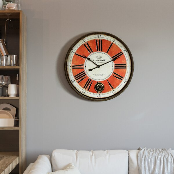 Oversized Lucienne 27 Wall Clock by 17 Stories