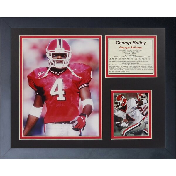 Champ Bailey - Bulldogs Framed Memorabilia by Legends Never Die