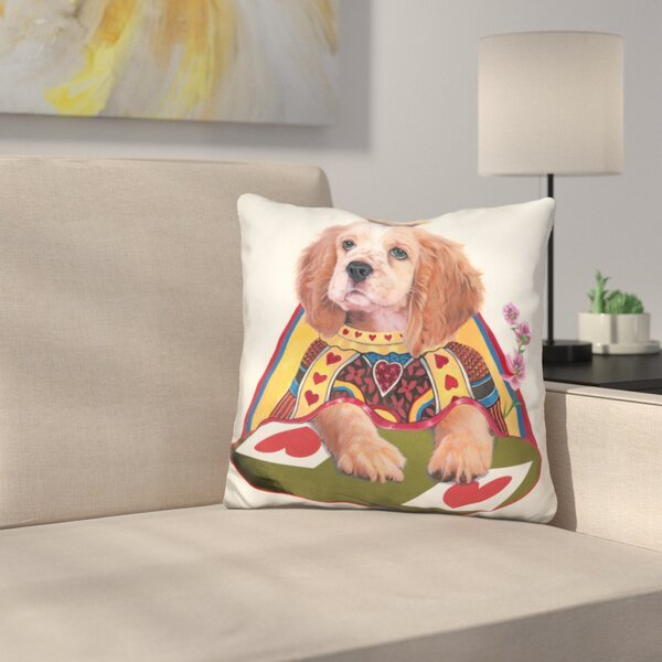 Queen of Hearts Throw Pillow by East Urban Home