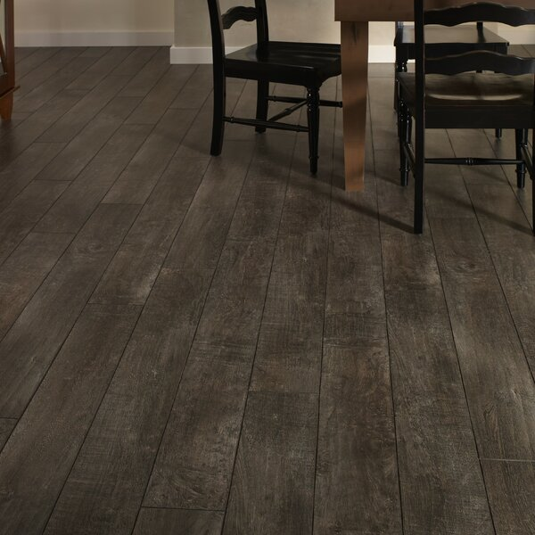 Restoration 6'' x 51'' x 12mm Laminate Flooring in Smoke by Mannington