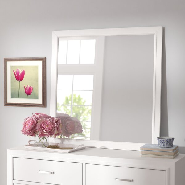 Hoytville Square Dresser Mirror by Three Posts