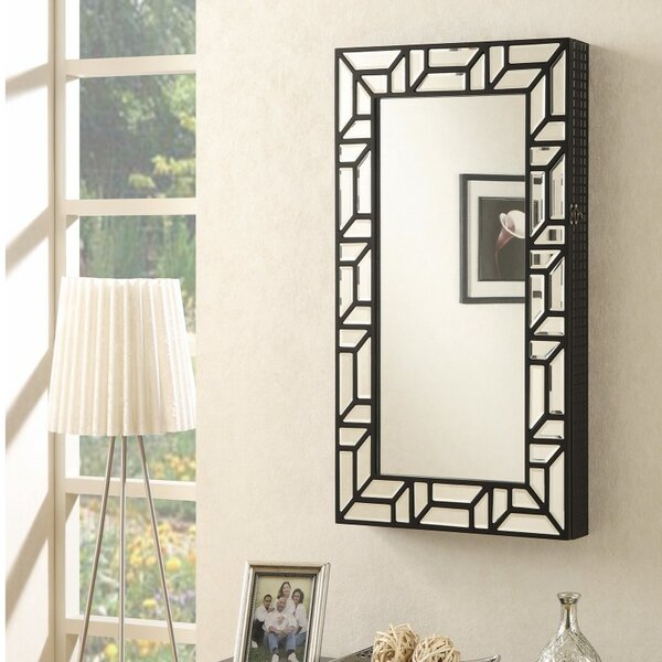 Genthner Dazzling Wall Mounted Jewelry Cheval Mirror by Wrought Studio