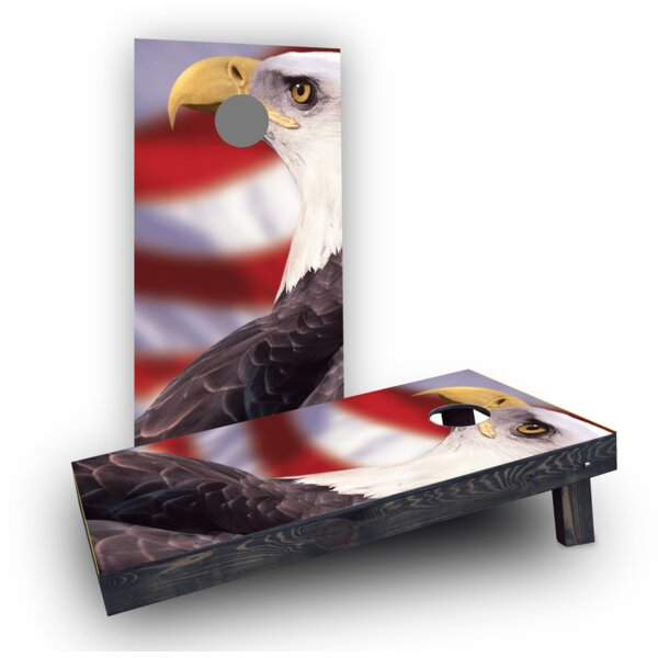 Patriotic Bald Eagle Cornhole Boards (Set of 2) by Custom Cornhole Boards