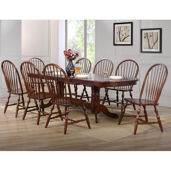 Lockwood 9 Piece Drop Leaf Dining Set by Loon Peak