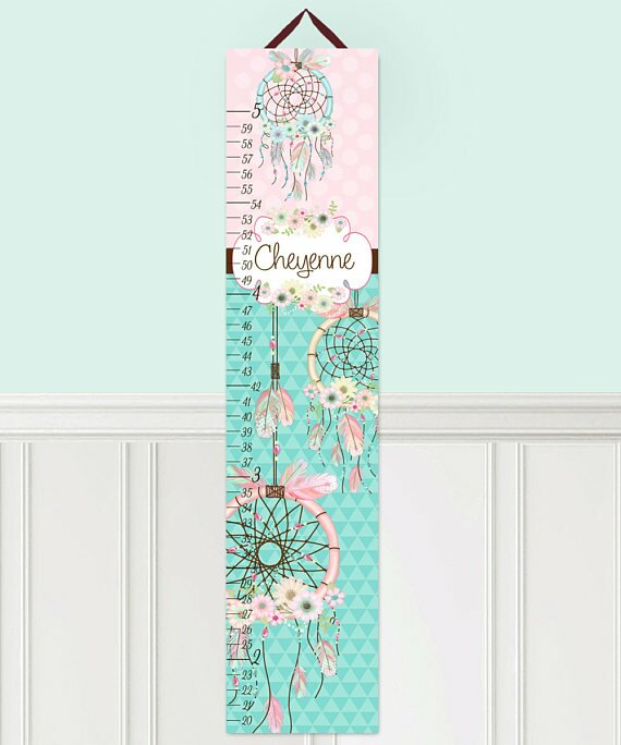 Toad and lily dream catcher personalized growth chart wayfair