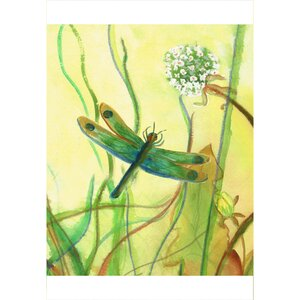 'Garden Dragonfly' Painting Print on Canvas by Winston Porter