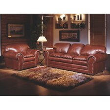 Torre 3 Seat Leather Living Room Set by Omnia Leather