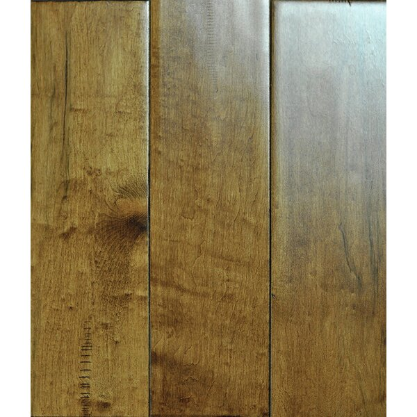 4-3/4 Solid Maple Hardwood Flooring in Burlap by Albero Valley
