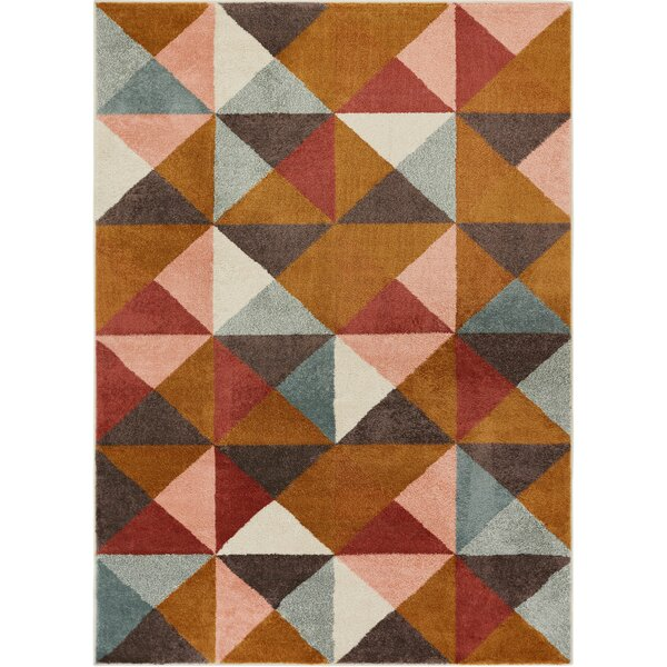 Camren Geometric Triangles Brown/Gray Area Rug by George Oliver