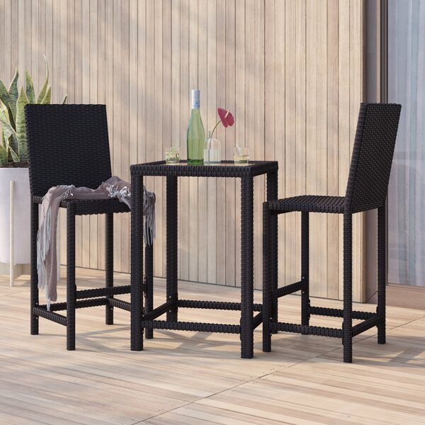 Corlane 3 Piece Bar Height Dining Set by Mercury Row