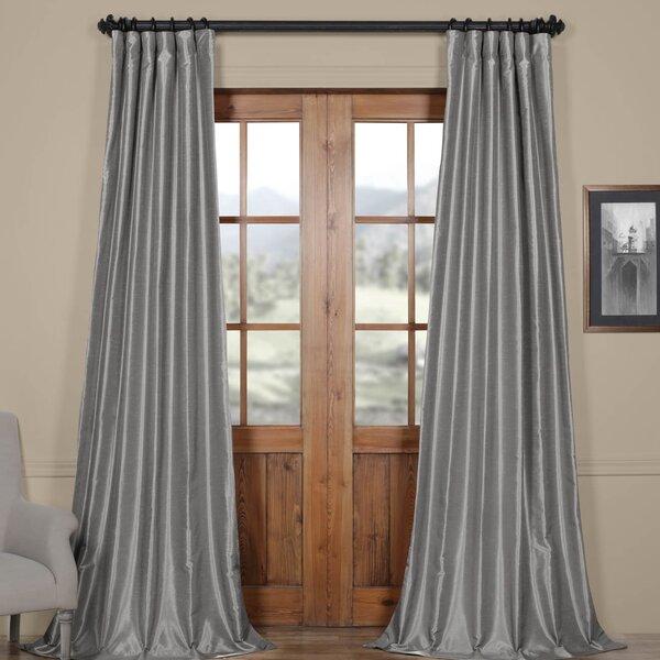 Sagunto Textured Room Darkening Thermal Tab Top Single Curtain Panel by Astoria Grand