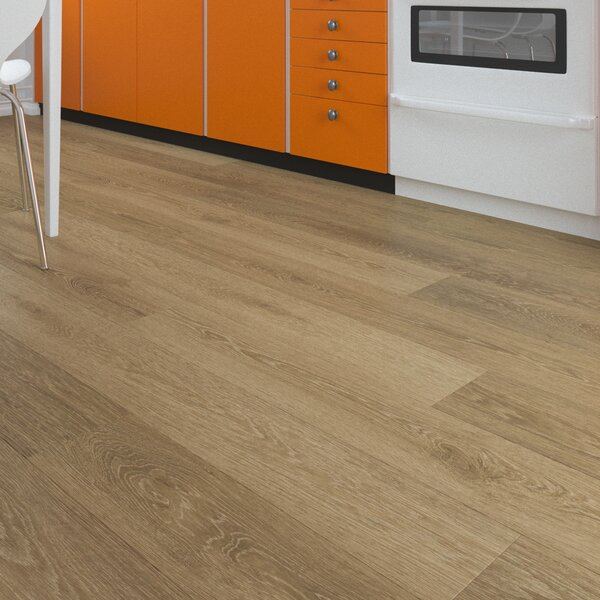 Horseshoe 7 x 48 x 8mm Oak WPC Luxury Vinyl Plank in Natural by GoHaus