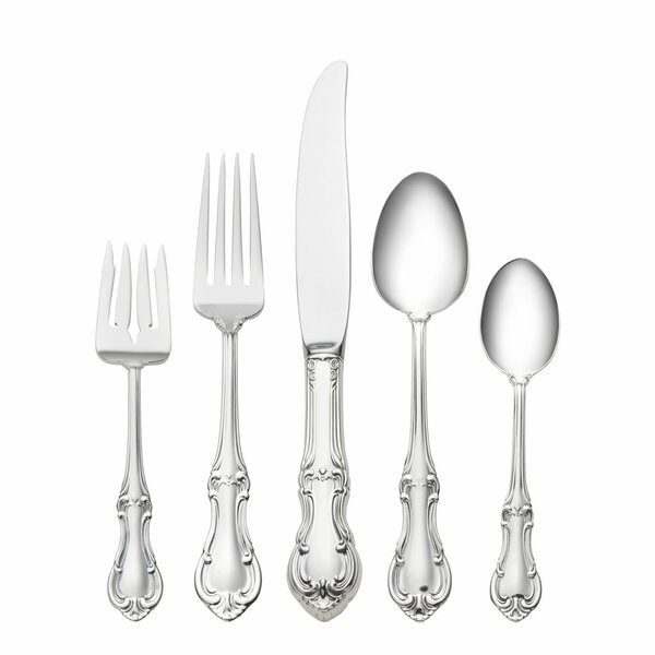 Sterling Silver Joan of Arc 5 Piece Dinner Flatware Set by International Silver