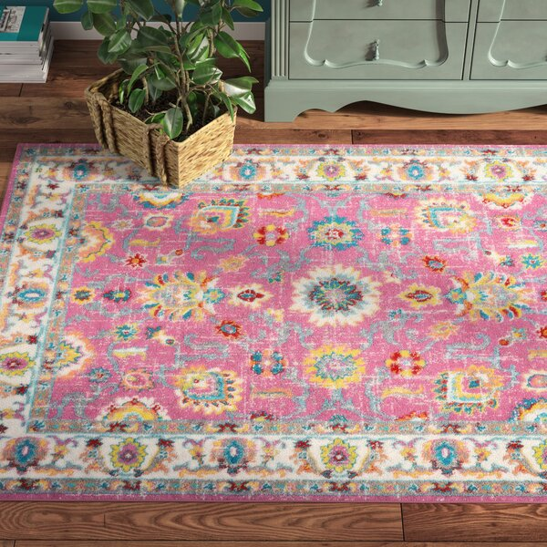 Montana Pink Area Rug by Bungalow Rose