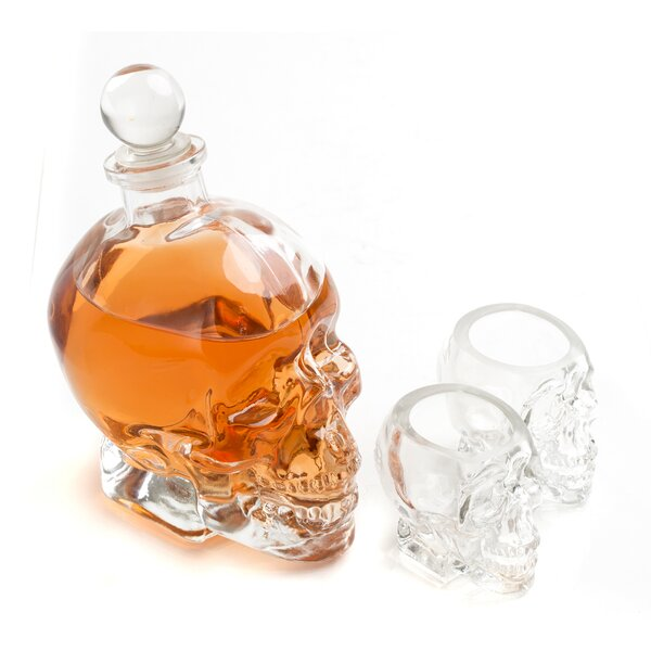 Fulbright Skull 3 Piece Beverage Serving Set by Ivy Bronx