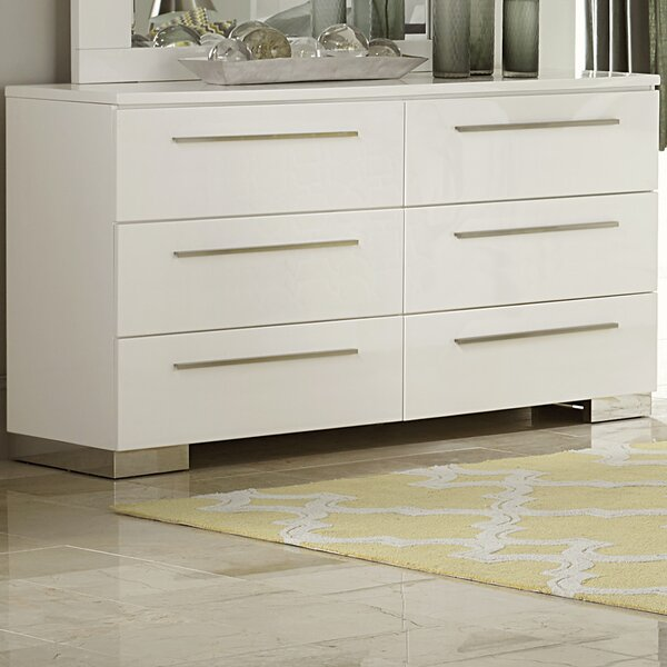 Brendan 6 Drawer Double Dresser by Wade Logan