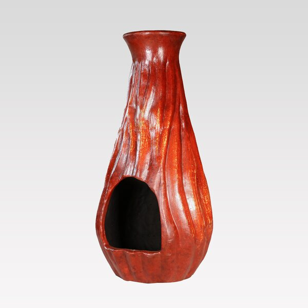 Fuego Clay Wood Burning Chiminea by REZ Furniture