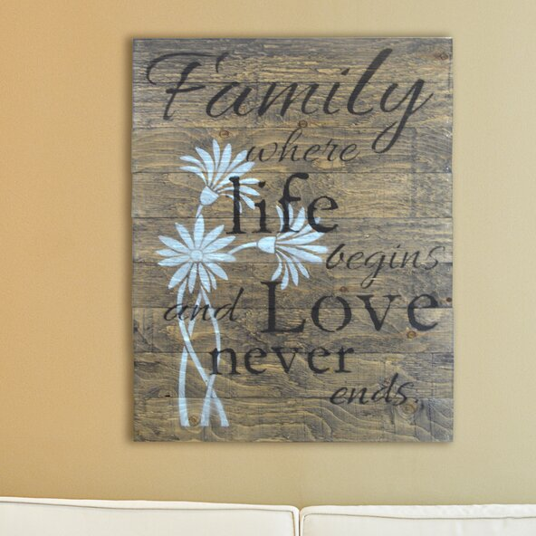 Firesidehome Family Where Life Begins And Love Never Ends Wooden
