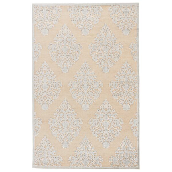 Ada Ivory/Blue Area Rug by Charlton Home
