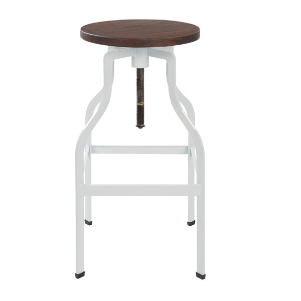 Mcclintock Adjustable Height Swivel Bar Stool by Williston Forge