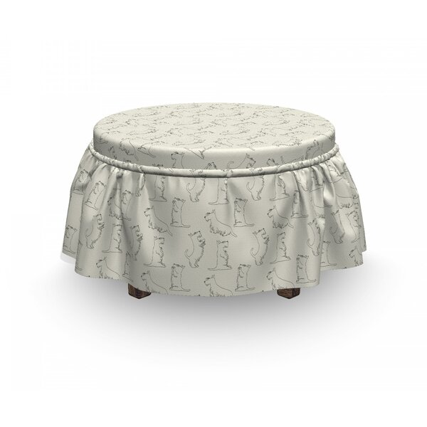 Animal Tiling Ottoman Slipcover (Set Of 2) By East Urban Home
