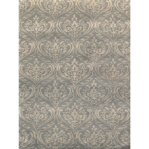 Ismenia Hand-Tufted Silver Sand Area Rug by Fleur De Lis Living