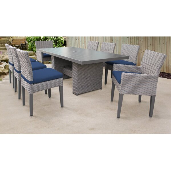 Rochford 9 Piece Outdoor Patio Dining Set with Cushions by Sol 72 Outdoor