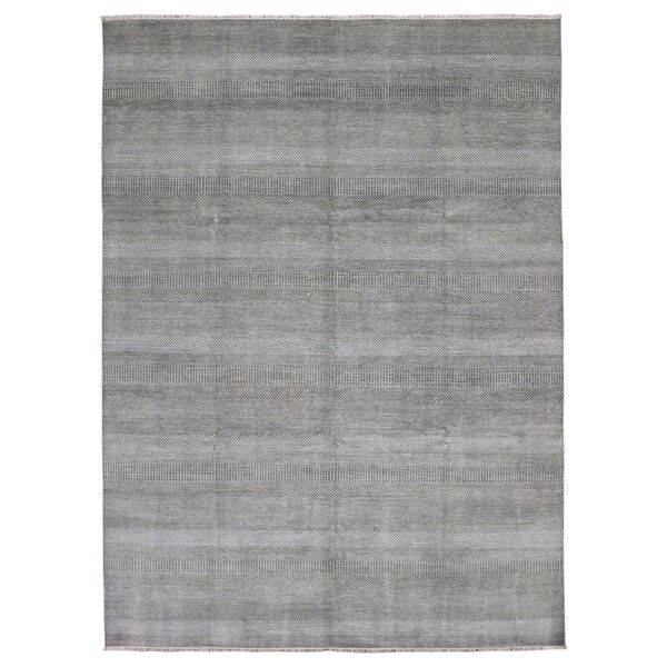 One-of-a-Kind Courville Modern and Rayon from Bamboo Silk Hand-Woven Wool Brown/Ivory Area Rug  by Isabelline