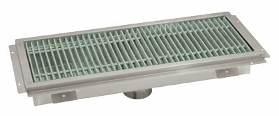 Floor Trough 3 Grid Shower Drain by Advance Tabco