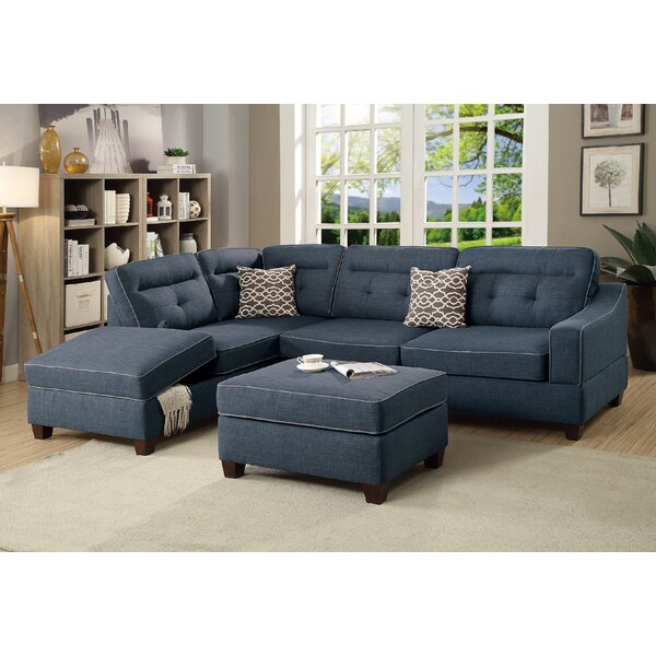 Dahlquist Reversible Sectional with Ottoman by Red Barrel Studio